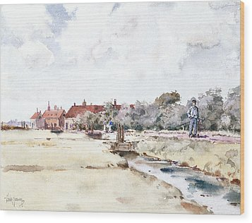 Canal Scene Wood Print by Childe Hassam