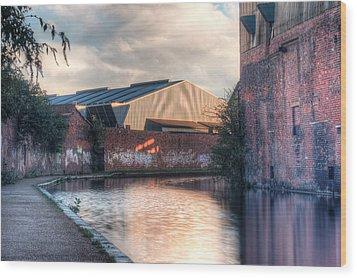 Canal Walk Wood Print by Rimantas Vaiciulis