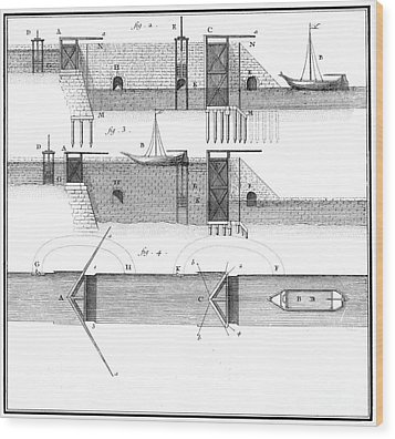 Canals: Languedoc Canal Wood Print by Granger