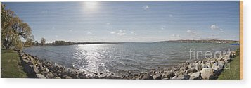 Wood Print featuring the photograph Canandaigua Lake Panorama by William Norton