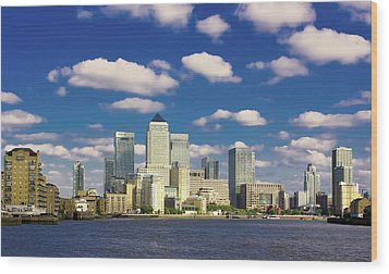 Canary Wharf Daytime Wood Print by Darkerphoto