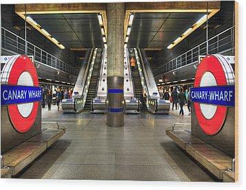 Canary Wharf Station Wood Print by Svetlana Sewell
