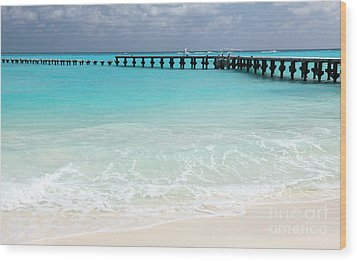 Wood Print featuring the photograph Cancun by Milena Boeva