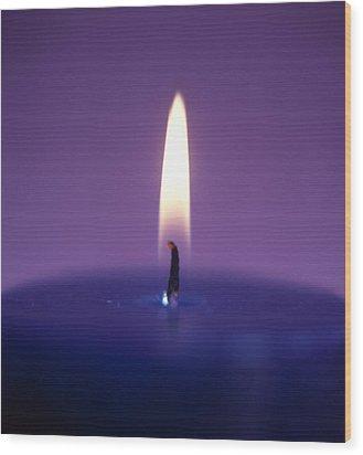 Candle Flame Wood Print by Cristina Pedrazzini