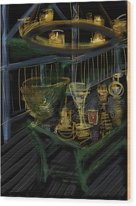 Candle Glow Wood Print by Russell Pierce