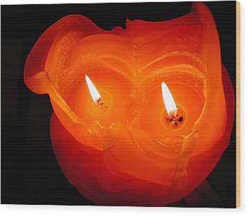 Wood Print featuring the photograph Candle Photo by Colette V Hera  Guggenheim