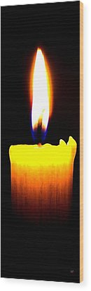 Candle Power Wood Print by Will Borden