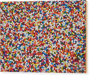 Candy Balls Wood Print by Methune Hively