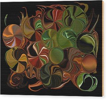 Candy Dish Wood Print by Steven Richardson