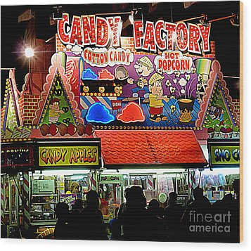 Wood Print featuring the photograph Candy Factory by Renee Trenholm