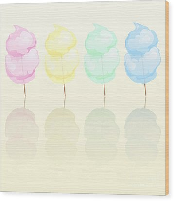 Candy Floss Wood Print by Jane Rix