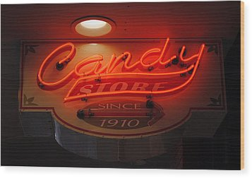 Candy Wood Print by Skip Willits