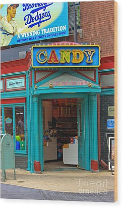 Candy Store Wood Print by Sophie Vigneault