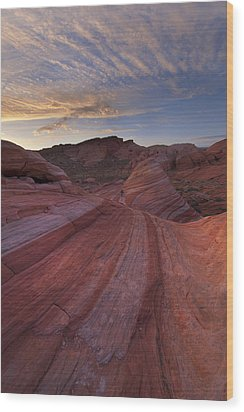 Candy Stripes Wood Print by Joseph Rossbach