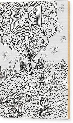 Candycane Wood Print by Andrew Padula