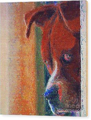 Canelo Wants In 2 Wood Print by John  Kolenberg