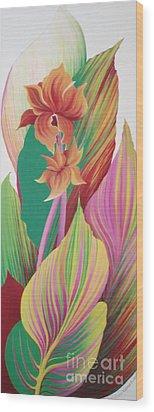 Canna Durban Wood Print