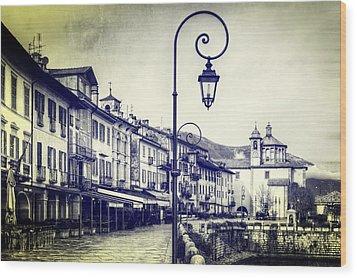 Cannobio Wood Print by Joana Kruse