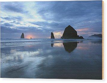 Cannon Beach Oregon Wood Print by Kami McKeon