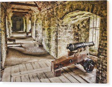 Cannons Of Dover Wood Print by Wendy White