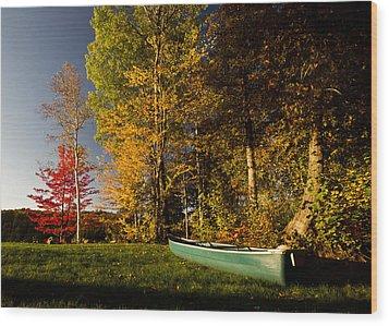 Canoe Wood Print by Cale Best