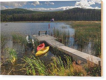 Canoe Canada Wood Print by Peter Olsen