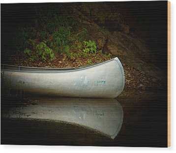 Canoe Wood Print by Joyce Kimble Smith