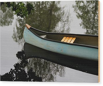 Canoe Wood Print by Odd Jeppesen