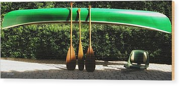 Canoe To Nowhere Wood Print by Alec Drake