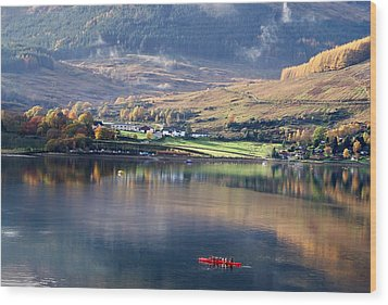Wood Print featuring the photograph Canoeing On Loch Goil by Lynn Bolt