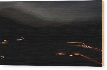 Canoncito At Night Wood Print