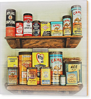 Cans Of Old Wood Print by Marty Koch