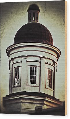 Wood Print featuring the photograph Canton Courthouse Dome by Jim Albritton