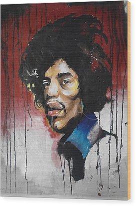 Canvas Jimi Wood Print by Matt Burke