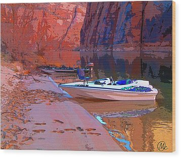 Canyon Boating Wood Print by Mary M Collins