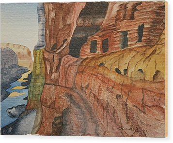 Wood Print featuring the painting Canyon De Chilly by Teresa Beyer