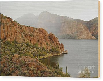 Wood Print featuring the photograph Canyon Lake by Tam Ryan