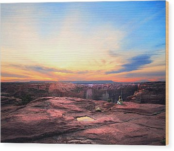 Canyon Sunset Wood Print by Ric Soulen