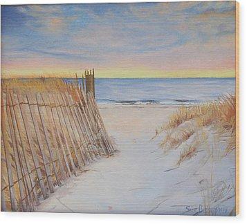 Cape Beach Wood Print by Sue Birkenshaw