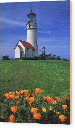 Cape Blanco Lighthouse Oregon Wood Print by Dave Mills