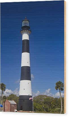 Cape Canaveral Lighthouse 2 Wood Print by Roger Wedegis