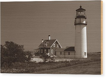 Cape Cod Lighthouse Wood Print by Skip Willits