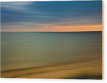 Cape Cod Sunset- Abstract  Wood Print by Expressive Landscapes Fine Art Photography by Thom