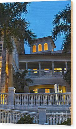Wood Print featuring the photograph Cape Coral Florida Architecture by Timothy Lowry