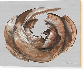Cape Driftwood One Wood Print