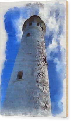 Wood Print featuring the digital art Cape Leeuwin Lighthouse by Roberto Gagliardi