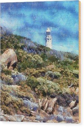Wood Print featuring the digital art Cape Leeuwin by Roberto Gagliardi
