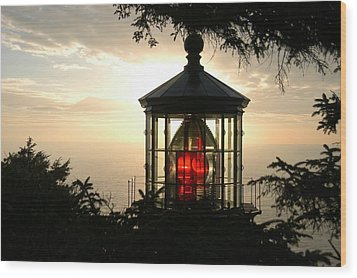 Cape Meares At Sunset Wood Print