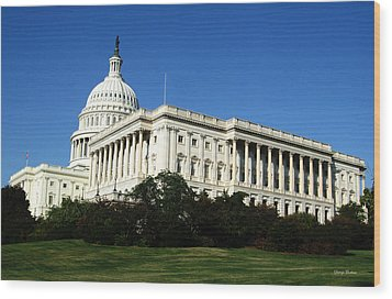 Wood Print featuring the photograph Capitol Building by George Bostian