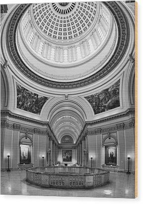 Capitol Interior Wood Print by Ricky Barnard